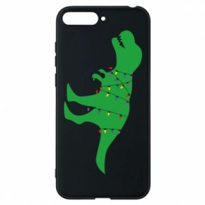 Phone case for Huawei Y6 2018 Dinosaur in a garland