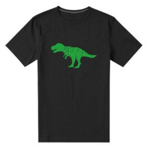 Męska premium koszulka Dinozaur w girlandzie