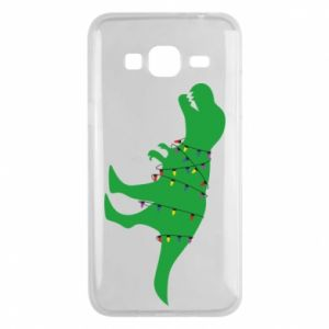 Phone case for Samsung J3 2016 Dinosaur in a garland