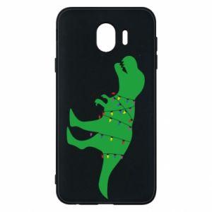 Samsung J4 Case Dinosaur in a garland