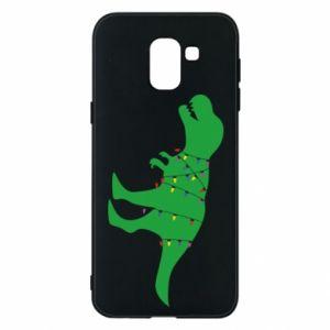 Phone case for Samsung J6 Dinosaur in a garland