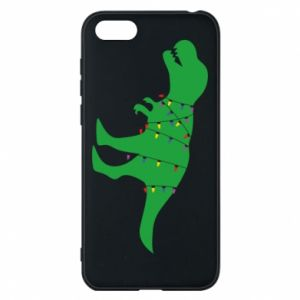 Phone case for Huawei Y5 2018 Dinosaur in a garland