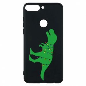 Phone case for Huawei Y7 Prime 2018 Dinosaur in a garland