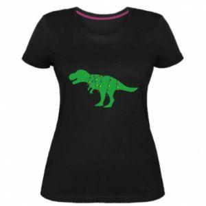 Damska premium koszulka Dinozaur w girlandzie