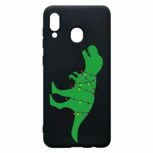 Phone case for Samsung A20 Dinosaur in a garland