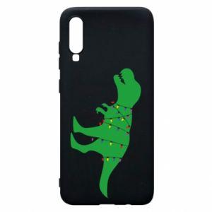 Phone case for Samsung A70 Dinosaur in a garland