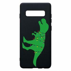Samsung S10+ Case Dinosaur in a garland
