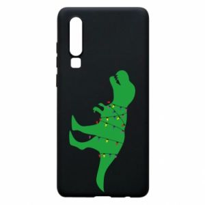 Phone case for Huawei P30 Dinosaur in a garland