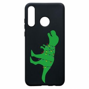 Phone case for Huawei P30 Lite Dinosaur in a garland