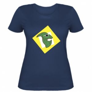 Women's t-shirt Dinosaur with glasses