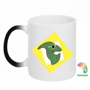 Kubek-kameleon Dinozaur w okularach