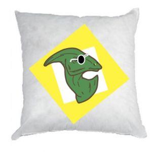 Poduszka Dinozaur w okularach
