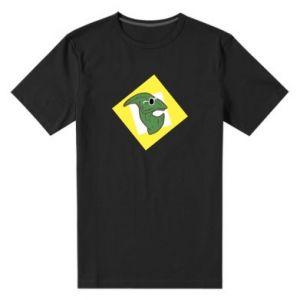 Męska premium koszulka Dinozaur w okularach