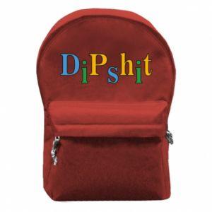Plecak z przednią kieszenią Dipshit