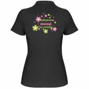 Damska koszulka polo Najlepsza mama na świecie