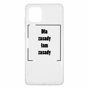 Etui na Samsung Note 10 Lite Dla zasady łam zasady