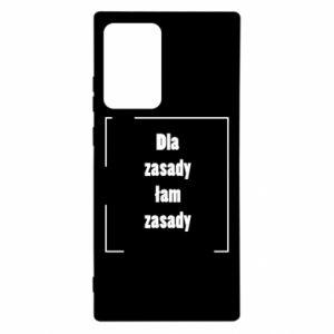 Etui na Samsung Note 20 Ultra Dla zasady łam zasady