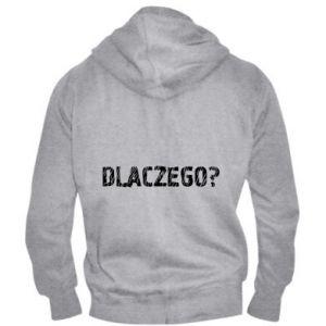 Men's zip up hoodie Why - PrintSalon