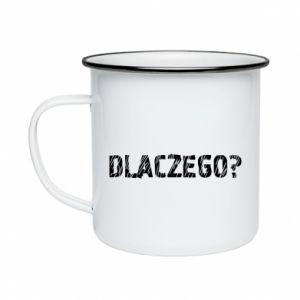 Enameled mug Why - PrintSalon