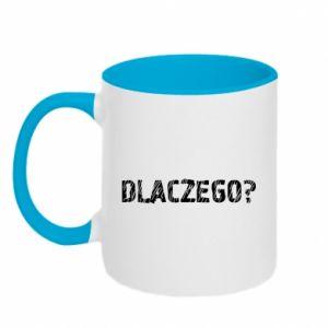 Two-toned mug Why - PrintSalon