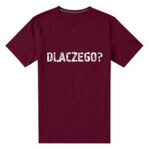 Men's premium t-shirt Why - PrintSalon