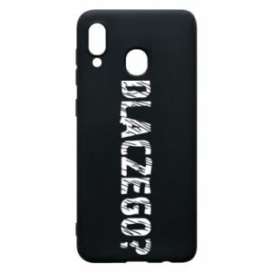 Phone case for Samsung A20 Why - PrintSalon