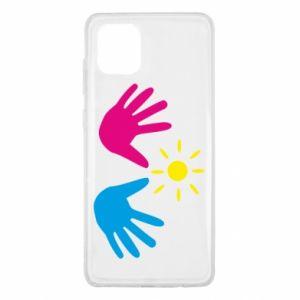 Etui na Samsung Note 10 Lite Dłonie