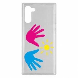 Etui na Samsung Note 10 Dłonie