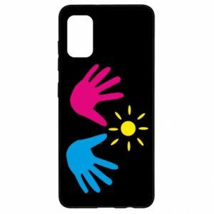 Etui na Samsung A41 Dłonie