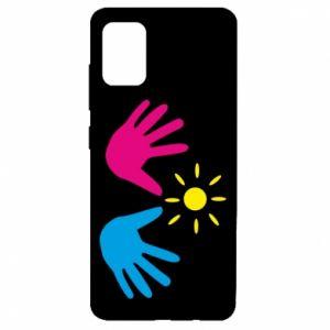 Etui na Samsung A51 Dłonie