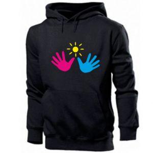 Men's hoodie Palms of hands