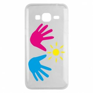 Phone case for Samsung J3 2016 Palms of hands
