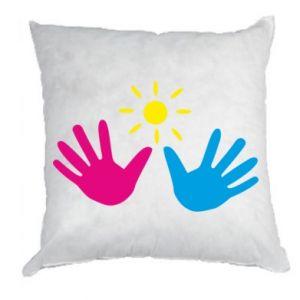 Pillow Palms of hands