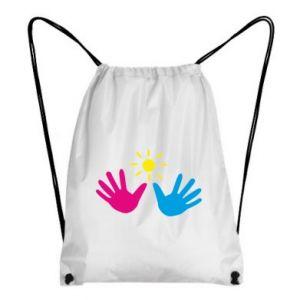 Backpack-bag Palms of hands
