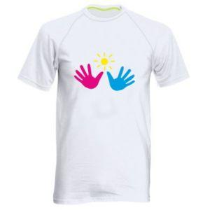 Men's sports t-shirt Palms of hands