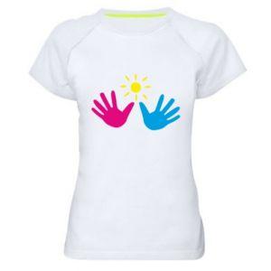 Women's sports t-shirt Palms of hands