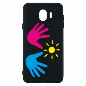 Phone case for Samsung J4 Palms of hands