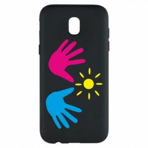 Phone case for Samsung J5 2017 Palms of hands