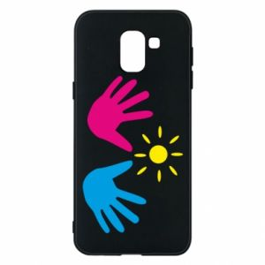 Phone case for Samsung J6 Palms of hands