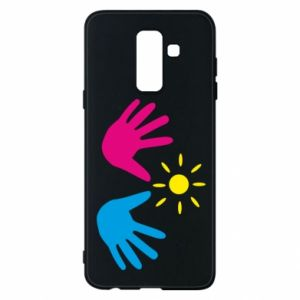 Phone case for Samsung A6+ 2018 Palms of hands