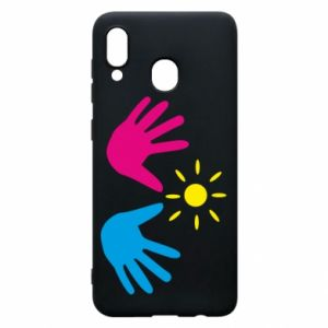Phone case for Samsung A30 Palms of hands