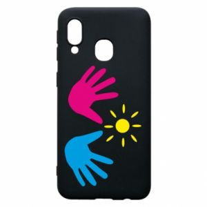 Phone case for Samsung A40 Palms of hands