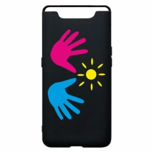 Phone case for Samsung A80 Palms of hands