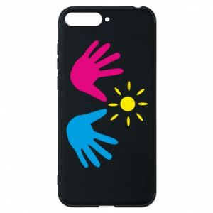 Phone case for Huawei Y6 2018 Palms of hands