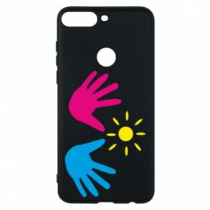 Phone case for Huawei Y7 Prime 2018 Palms of hands