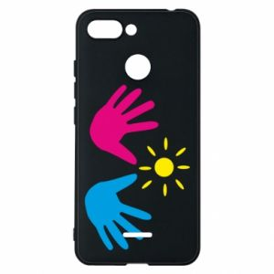 Phone case for Xiaomi Redmi 6 Palms of hands