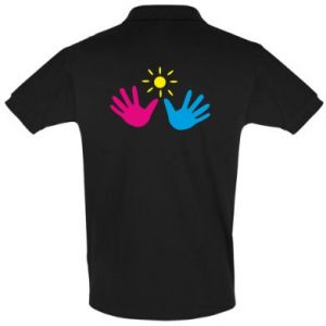 Men's Polo shirt Palms of hands