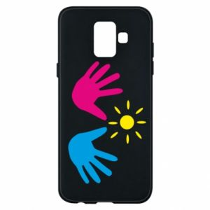 Phone case for Samsung A6 2018 Palms of hands