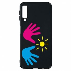 Phone case for Samsung A7 2018 Palms of hands