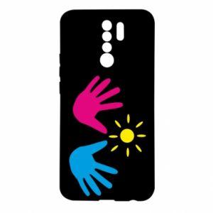 Etui na Xiaomi Redmi 9 Dłonie